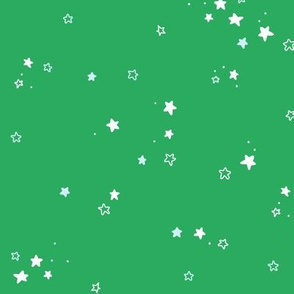 Stars in green