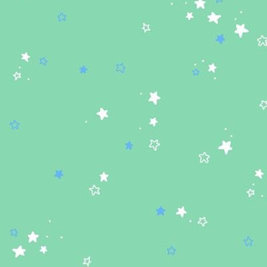 Stars in teal and blue