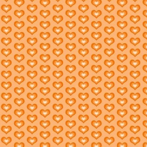 Orange hearts - small
