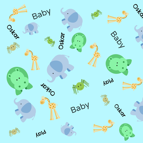 Baby elephant walk oskar swedish baby themed fabric from for Baby themed fabric