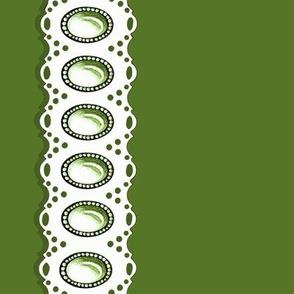 Gem Eyelet Green