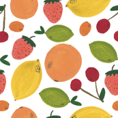 Watercolor Fruit Pattern