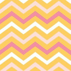 Chevron yellow and pink