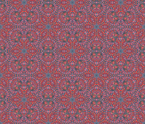 Red Slate Dusty Rose Kaleidoscope Stripes and Dots