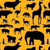 African Animals - Orange
