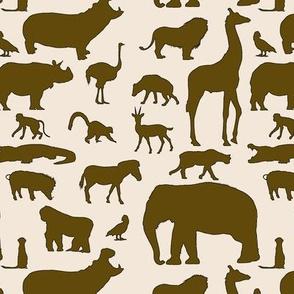 African Animals - Brown & Tan