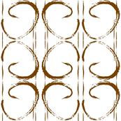 Brown Chocolate Paint Stroke Geometric Mod Print-ch-ch
