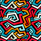 Funky Modern Graffiti Bright Color Design