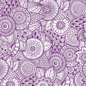 Indian Henna Design Purple
