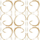 Beige Paint Stroke Geometric Mod Print-ch-ch-ch