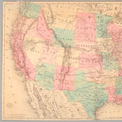 1871 Railroad Map of the United States