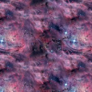 Repeating Purple Nebula Fabric