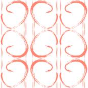 Coral Paint Stroke Geometric Mod Print-ch-ch-ch-ch