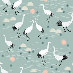 crane // japanese minimal bird nature