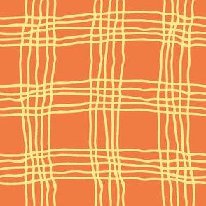 Spring plaid - large - orange/yellow