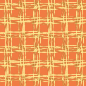 Spring plaid - small - orange/yellow
