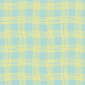 Spring plaid - small - light blue/yellow