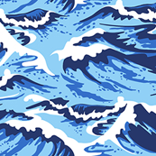Ocean Waves Blue