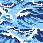 Ocean Waves Blue