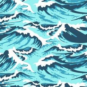 Ocean Waves Teal
