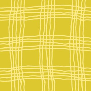 Spring plaid - large - green/yellow