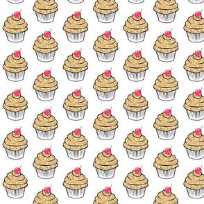 Gold sparkle glitter cherry Cupcake