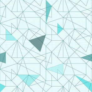 Triangles&lines (Dark Turquoise)