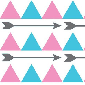 Blue and Pink Triangles and Arrows