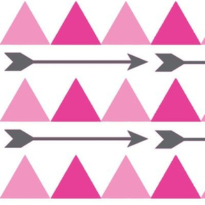 Pink Triangles and Arrows