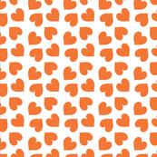 Orange Colourful Hearts