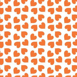 Orange Colourful Hearts