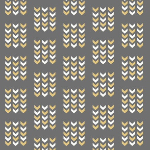Arrows Gray Gold and White