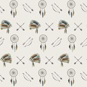 Dreamcatchers headdress // mint and teal