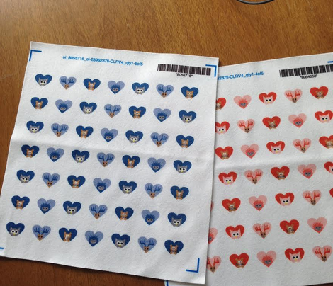 Woodland hearts in Blues