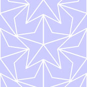 Tiled Stars - Periwinkle