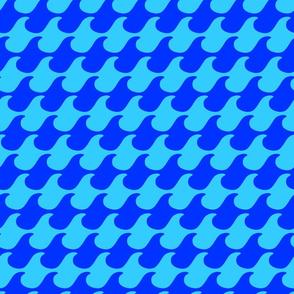 Running Waves Dark Blue by Cheerful Madness!!