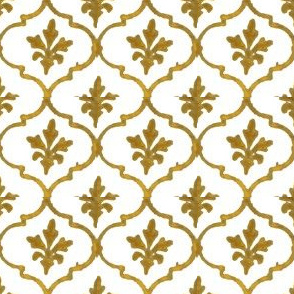 Golden Tile White