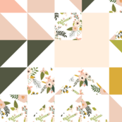 Blush Sprigs and Blooms Puzzle Wholecloth