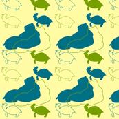 Animals green yellow