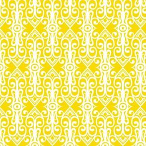 Mediterranean - White on Yellow