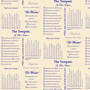 Shakespeare's The Tempest (Ivory & Blue)
