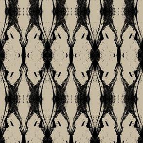 Anatomae (Black on Taupe)
