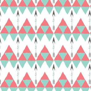 Saylor Arrow Coral Mint