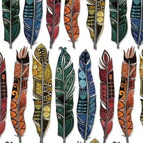 boho rainbow feathers small