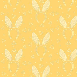 Bunny ears on yellow