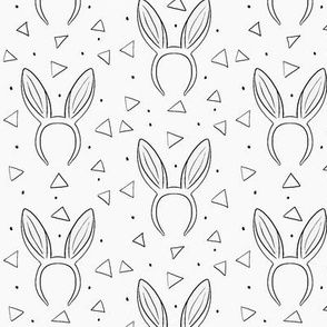 Bunny ears on light gray