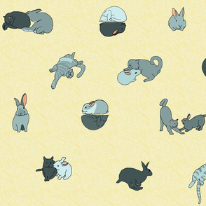 cat and rabbit friends remote