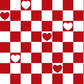 checkerd heart