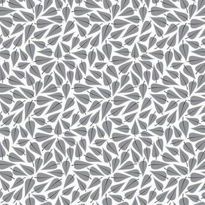 leaves gray