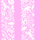 Ocean Life Pink Stripe
